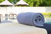Ręcznik i plaży — Zdjęcie stockowe