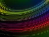 Molte linee di colore e onda su sfocatura sfondo — Foto Stock