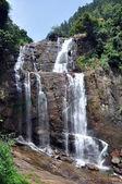 Waterfall near tea plantation — Stock Photo