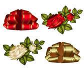 Conjunto de arcos y rosas — Vector de stock