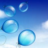 Blue balloons — Stock Vector
