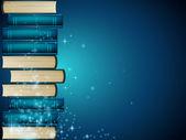 Blue books — Stock Vector
