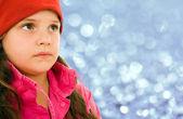 Güzel kış kız portre — Stok fotoğraf