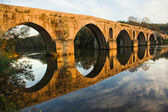 Roman bridge of Ponte do Porto at sunset in Braga, the north of — Stock Photo
