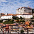 Typical buildings in Ribeira, oPorto, Portugal — Stock Photo