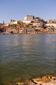 View of Douro river embankment of Porto city, Portugal — Stock Photo