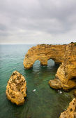 Yellow cliffs at praia da Marinha in Algarve, south of Portugal — Stock Photo