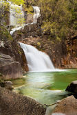 Waterfall in the portuguese national park of Geres, in the north — Stock Photo