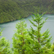 Caldera - lakes on the san Miguel Island , Azores, Portugal — Stock Photo