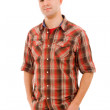 Young casual man portrait, isolated on white — Stock Photo #9377897
