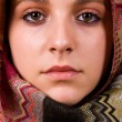 Arabic style portrait of a young beautiful woman — Stock Photo #9377977