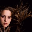 Photo of young beautiful woman with magnificent hair — Stock Photo