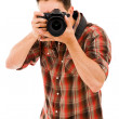 Young photographer with camera, — Stock Photo #9378847