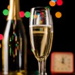 Champagne glasses and bottle — Stock Photo #9379102