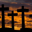 Crosses silhouette - Foto Stock