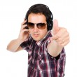 Young listening music — Stock Photo #9379214