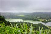 Sopečné jezero sete cidades na ostrově sao miguel, azory — Stock fotografie