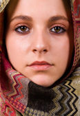Arabic style portrait of a young beautiful woman — Stock Photo