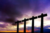 Crosses silhouette — Stock Photo