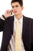 Affärsman som pratar i mobiltelefon — Stockfoto