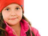 Retrato de inverno menina cute — Fotografia Stock