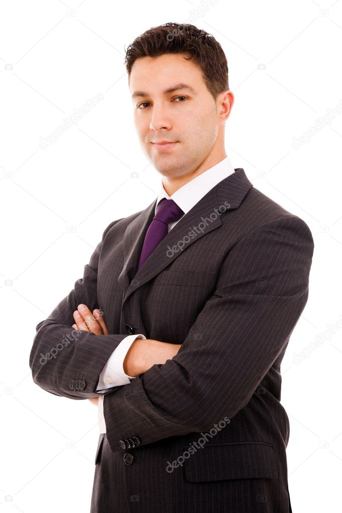 Portrait of young business man isolated on white background — Stock Photo #9377930