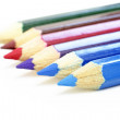 Color Pencils.Isolated on white background. - Stock Photo