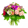 Stock Photo: Bouquet of rose, paeoniand orchid