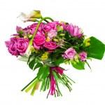 Постер, плакат: Bouquet of calla lilias and roses
