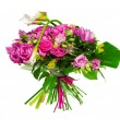 Stock Photo: Bouquet of calllilias and roses