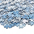 Stock Photo: Elements of blue jigsaw puzzle
