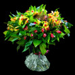 Bouquet of red and yellow alstroemeria — Stock Photo #9589051
