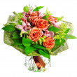 Stock Photo: Bouquet of lilias and roses