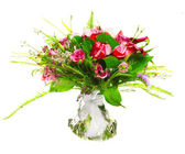 Bouquet of callas and roses — Stock Photo