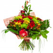 Stock Photo: Bouquet of gerberas, roses and chrysanthemums
