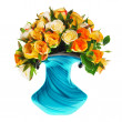 Stock Photo: Bouquet of teroses in vase