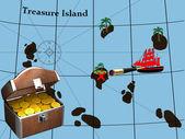 Treasure island — Stock Photo
