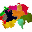 Map of Switzerland — Stock Photo