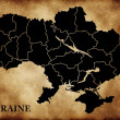 Map of Ukraine — Stock Photo