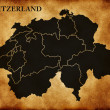 Map of Switzerland — Foto Stock