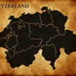 ストック写真: Map of Switzerland