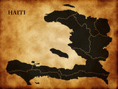 Map of the Republic of Haiti — Stock Photo