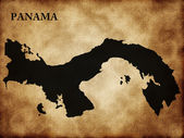 Map of Panama country — Stock Photo