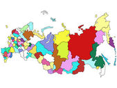 Map of Russia — Stock Photo