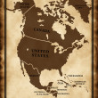 Map of North America — Foto Stock