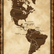 A map North and South America — Stock Photo