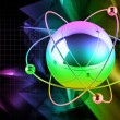 Multicolored atom — Stock Photo