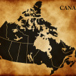 Map of Canada — Stock Photo