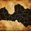 Foto Stock: Map of Latvia