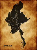 Map of Burma — Stock fotografie